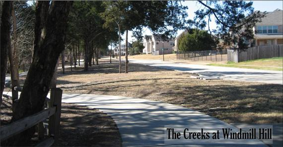 Paved Walking Trail at Creeks at Windmill Hill