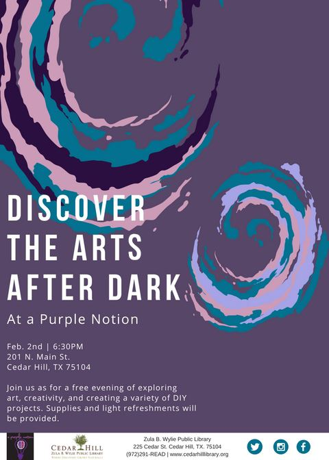 Discover the Arts After Dark at a Purple Notion