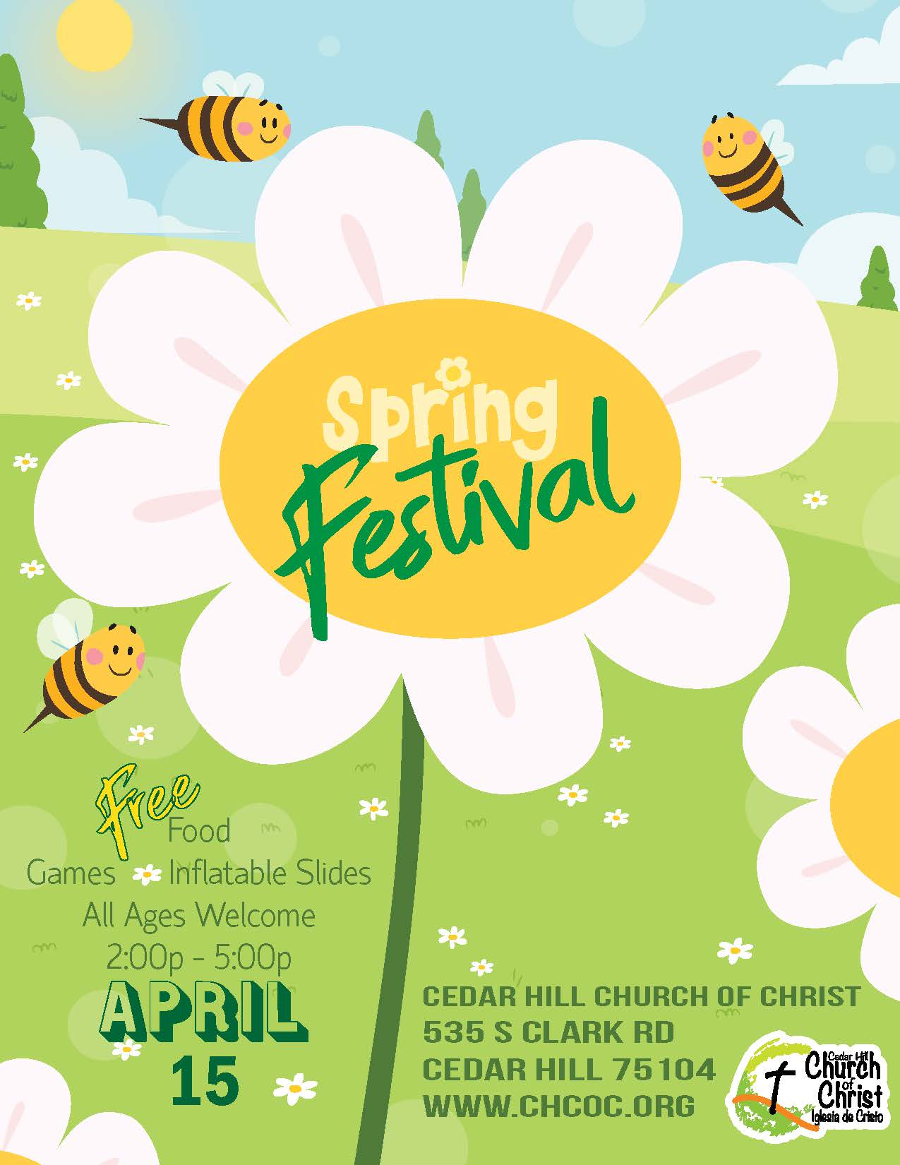 CH Church of Christ Spring Festival Flyer