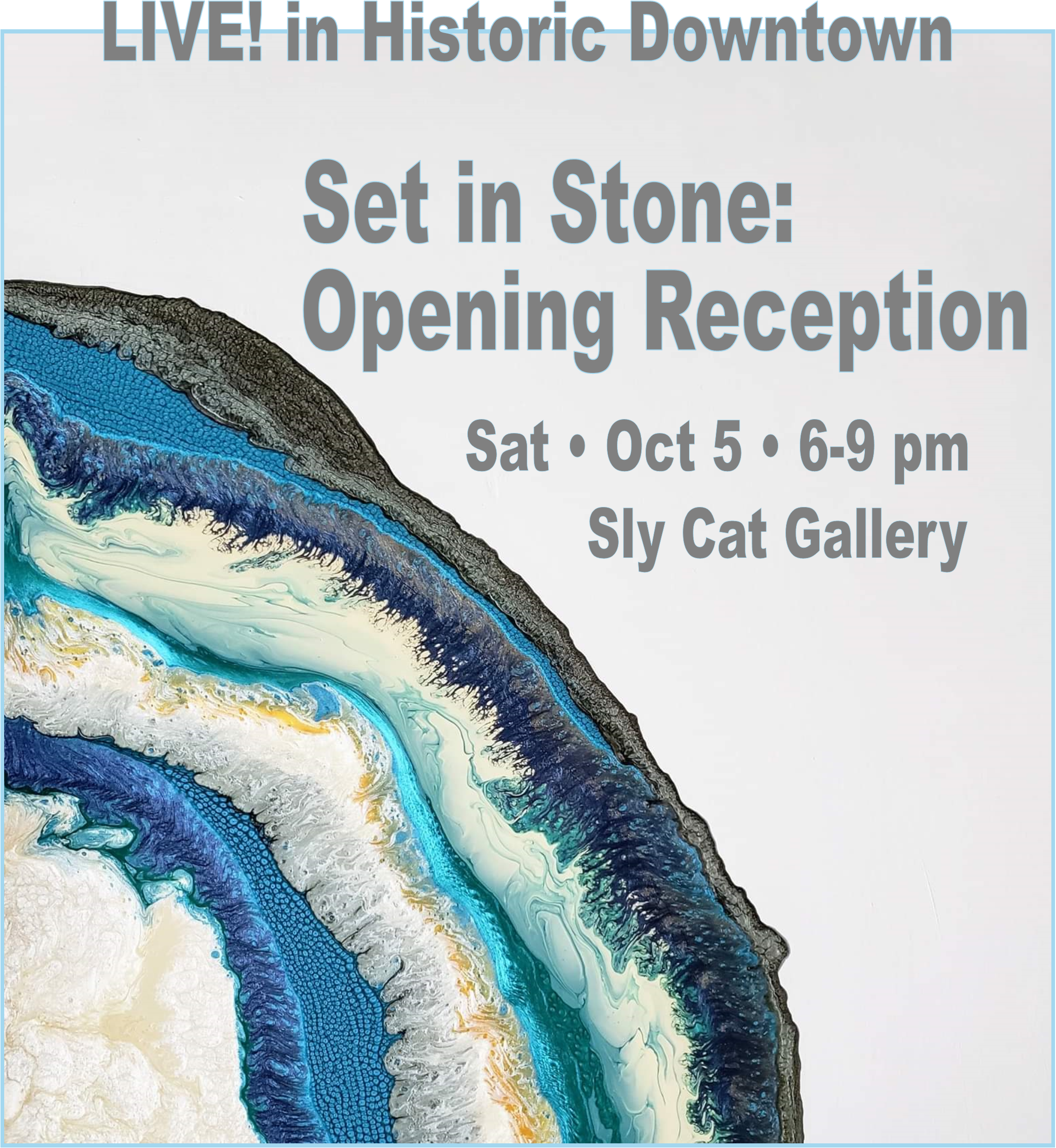 Sly Cat Gallery Set in Stone