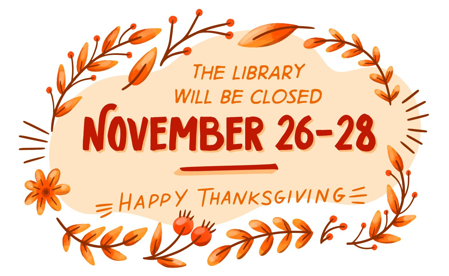 LibraryClosedThanksgiving