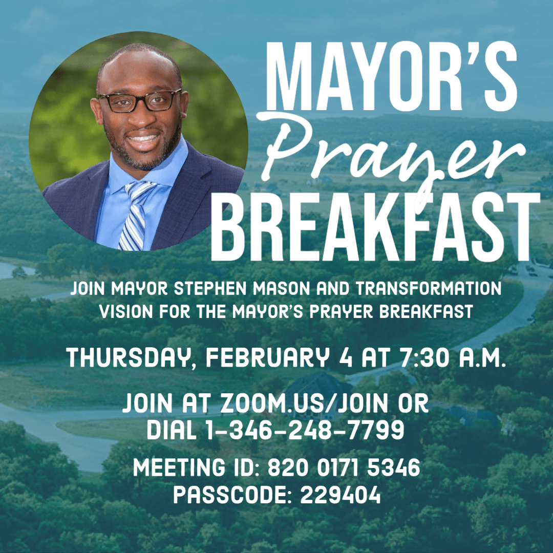 Mayors Prayer Breakfast Feb 4