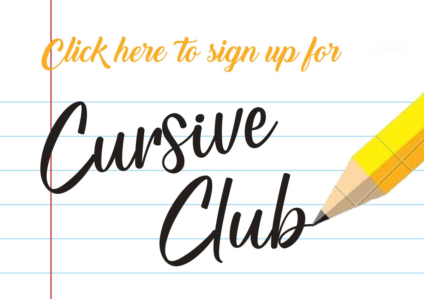 Cursive Club Sign Up