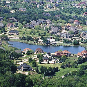 Lake Ridge Neighborhood pictured from atop a hill, looking down at the community..png